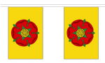 LANCASHIRE (YELLOW) BUNTING - 18 METRES 30 FLAGS